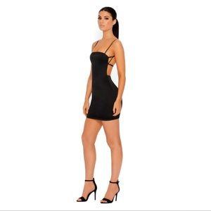 54fdee1e4fb0 Oh Polly Dresses | Black Cutting Shapes Satin Mini Dress | Poshmark